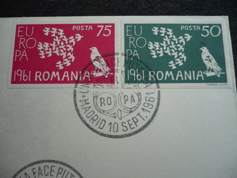 Europa 1961 - Romanian Cinderella First Day Cover