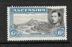 ASCENSION ISLAND  1938-53  6d   KGVI  PICTORIAL  MLH      SG 43