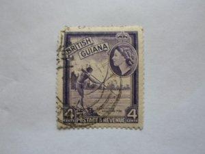 british guiana stampUSED NO HINGE MARKS, # 7