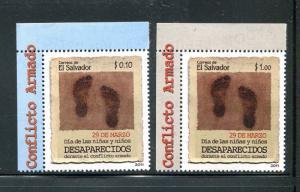 Salvador 1707-1708, MNH, Children's Day & Missing Children's Day 2011. x31075