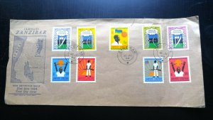 """VERY RARE ZANZIBAR OMAN """"ONLY 10 KNOWN"""" 1964 """"INDEPENDENCE DAY"""" 1ST DAY COVER"""
