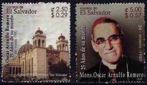 EL SALVADOR ASSASSINATION of ARCHBISHOP OSCAR ROMERO Sc 1615-1616 MNH 2005