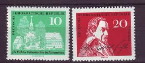 J19223 Jlstamps 1962 germany DDR set mnh #605-6 fichte