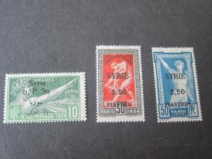 Syria 1924 Sc 166,168,169 some W/gum skips MH