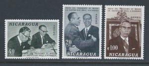 Nicaragua #C631-3 NH Mexico Pres. Ordaz Visit