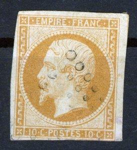 STAMP-FRANCE,1852,NAPOLEON,1853,10c,Yellowish,Ty.I (14; Yvert 13),SCOTT #10