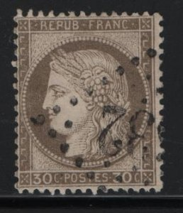 France 62, USED ,1872-75, Ceres