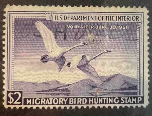 US Stamps #RW17 Used Federal Ducks #RW17A158