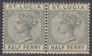 St. Lucia 27 MNH Pair CV $8.00