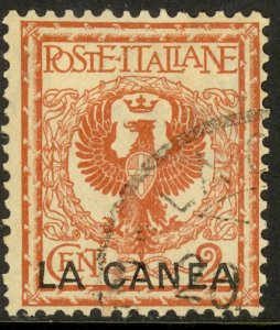 ITALY OFFICES IN CRETE 1906 2c ARMS Sc 4 VFU
