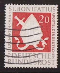 Germany  #724  used  1954    Bishop`s miter and sword