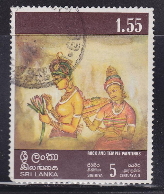 Sri Lanka 481 Woman Holding Lotus 1973