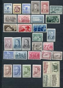 Czechoslovakia 1950 Mi 605-642 MNH Complete year (-1 stamp) Cb 127.50 euro 4798
