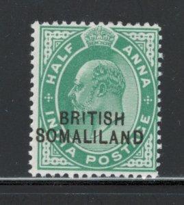 Somaliland 1903 Overprint 1/2a Scott # 21 MH