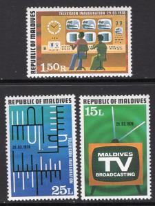 Maldive Islands 732-734 MNH VF