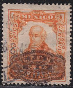 Mexico 579 Hinged Used 1916 Miguel Hidalgo O/P