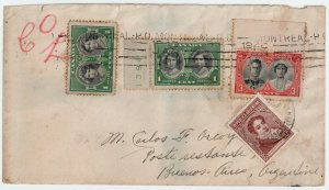 Scarce Royal Visit issue Poste Restante cover > ARGENTINA nice receivers Canada