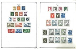 Qatar 1957-1984 MNH & H in Mounts & a few Used on Scott International Pages