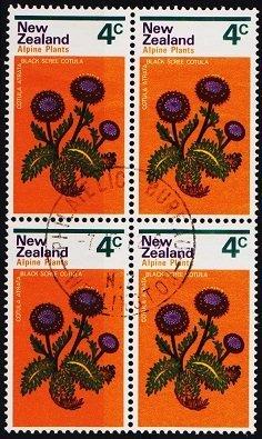 New Zealand. 1972 4c (Block of 4) S.G.983 Fine Used