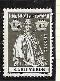 Cape Verde #144  1/4c  Ceres olive brown  (MH) CV$0.75