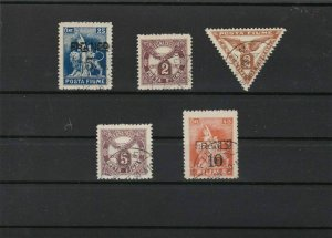 fiume 1919 and surcharge stamps  ref r12771