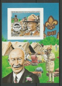 1984 Central Africa Scouts XV World Jamboree Canada SS BadenPowell Imperf