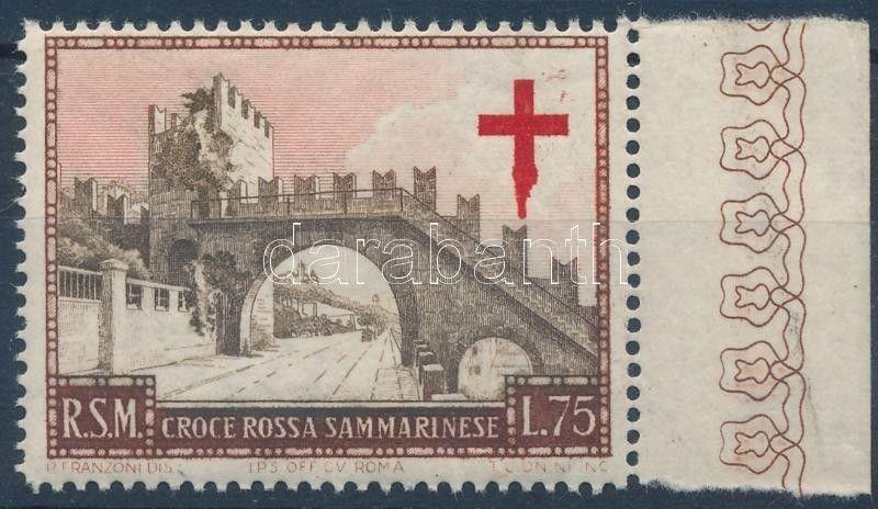 San Marino stamp Red Cross 75L (crocking) MNH 1951 WS240114