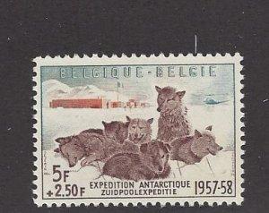 Belgium, B605b, Dogs and Antarctic Camp Single, **MNH**