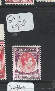 SINGAPORE (P2812B) KGVI 40C P12  SG 11 MOG