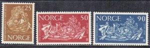 NORWAY SC# 433+35+36 *MH*  25,50+90o  1963  SEE SCAN