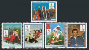 Paraguay C770-C774.MNH.Mi . Winter Olympic medalists or competitors,1988.