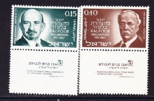 Israel #353 - 354 Balfour Declaration MNH Singles