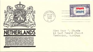 United States, District of Columbia, First Day Cover, Overrun Nations, Nether...