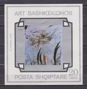 ALBANIA - 1993 CONTEMPORARY ART - SOUVENIR SHEET MINT NH