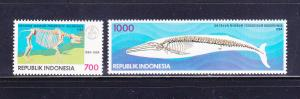 Indonesia 1587-1588 Set MNH Skeletons (A)