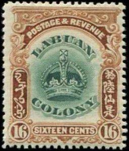 Labuan SC# 105 Crown 16c  MH