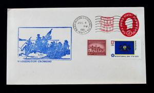 US Stamp Sc# U538 Late Use Combo Cover Washington Crossing July 4, 1981
