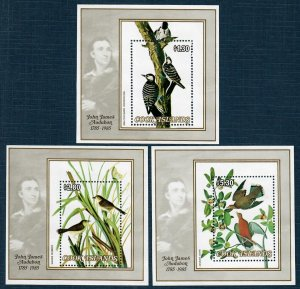 Cook Islands 855-57 MNH S/S North American Birds/John J Audubon (SCV $13.00)
