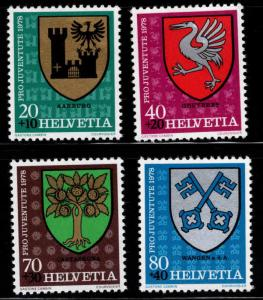 Switzerland Scott B459-B462 MNH** 1978 Coat of Arms semi postal set