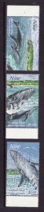 Niue-Sc#695,698,700-unused NH 1/2 set-Humpback Whales-Marine Life-1997-