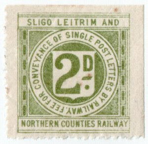 (I.B) Sligo Leitrim & Northern Counties Railway : Letter Stamp 2d