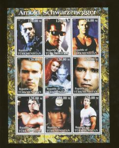 Turkmenistan Actor Arnold Schwarzenegger Commemorative Souvenir Stamp Sheet