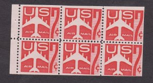 C60a MNH Airmail booklet pane