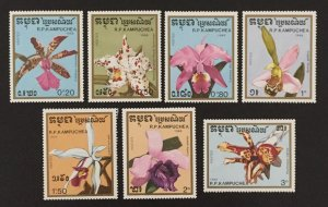 Cambodia 1988 #898-904, Orchids, MNH.