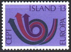 Iceland. 1973. 471 from the series. Europa Sept. MNH.