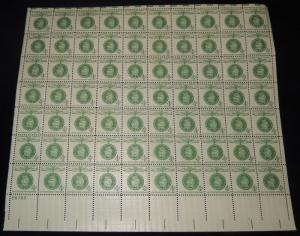 MALACK 1168 4c Guiseppe Garibaldi, Full Sheet, F/VF ..MORE.. sheet1168