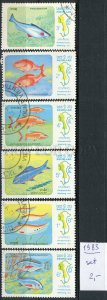 265999 LAOS 1983 year used stamps set FISHES