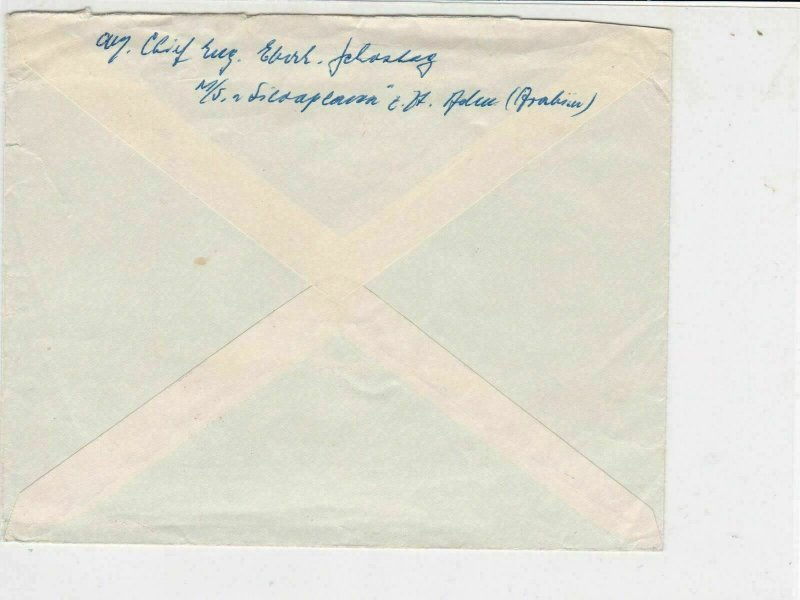 Aden Airmail 1960 to Germany Machine Cancel with Ships Stamps Cover  ref R18585