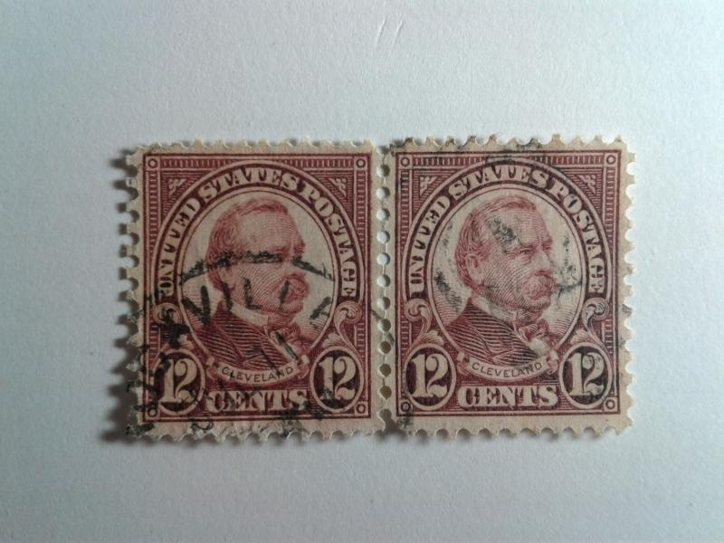 SCOTT # 564 USED TWIN 12 CENT CLEVELAND !