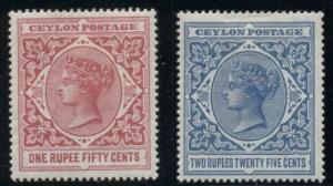 CEYLON #162-3, Complete set, og, LH, VF, Scott $72.50
